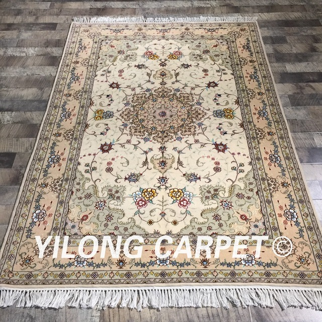 Aliexpress Com Buy Yilong 4 X6 Handmade Turkish Wool Silk Rug
