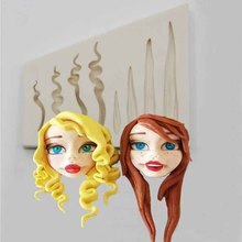 Cake-Decoration-Tools Silicone Cake-Mold Hair-Mould Face 3d-Doll DIY Baby