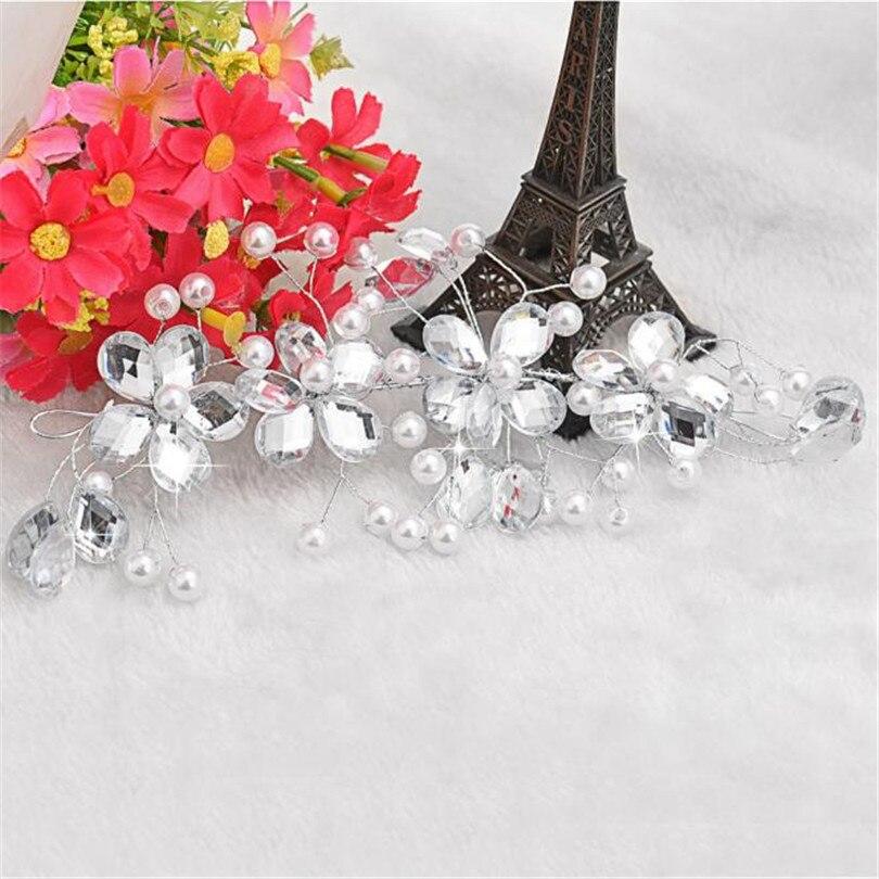 Durable Fashion Hair Accessories Headpiece Women s White Flower Wedding  Bridal Party Handmade Hair Pin Clip Jewelry 2a92f8a7f117