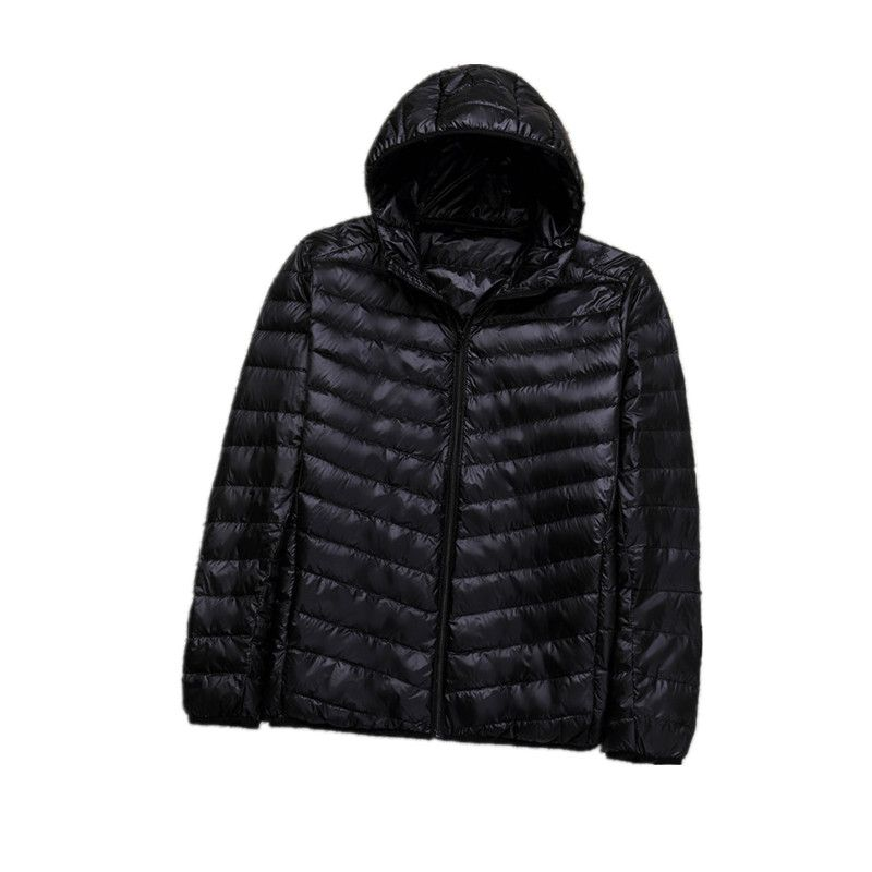 Winter Plus 8XL Ultra light hooded Down Jacket Men Duck Down Coat Man Lightweight Overcoat Black Navy Parkas 082205