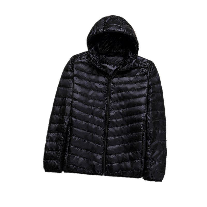 Hiver Plus 8XL Ultra léger à capuche doudoune hommes duvet de canard manteau homme léger pardessus noir marine Parkas 082205