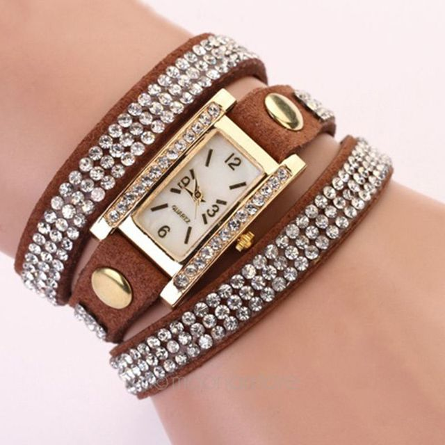 Bracelet Watches For Women Luxury Crystal Clock Quartz Watch Fashion Ladies Vint