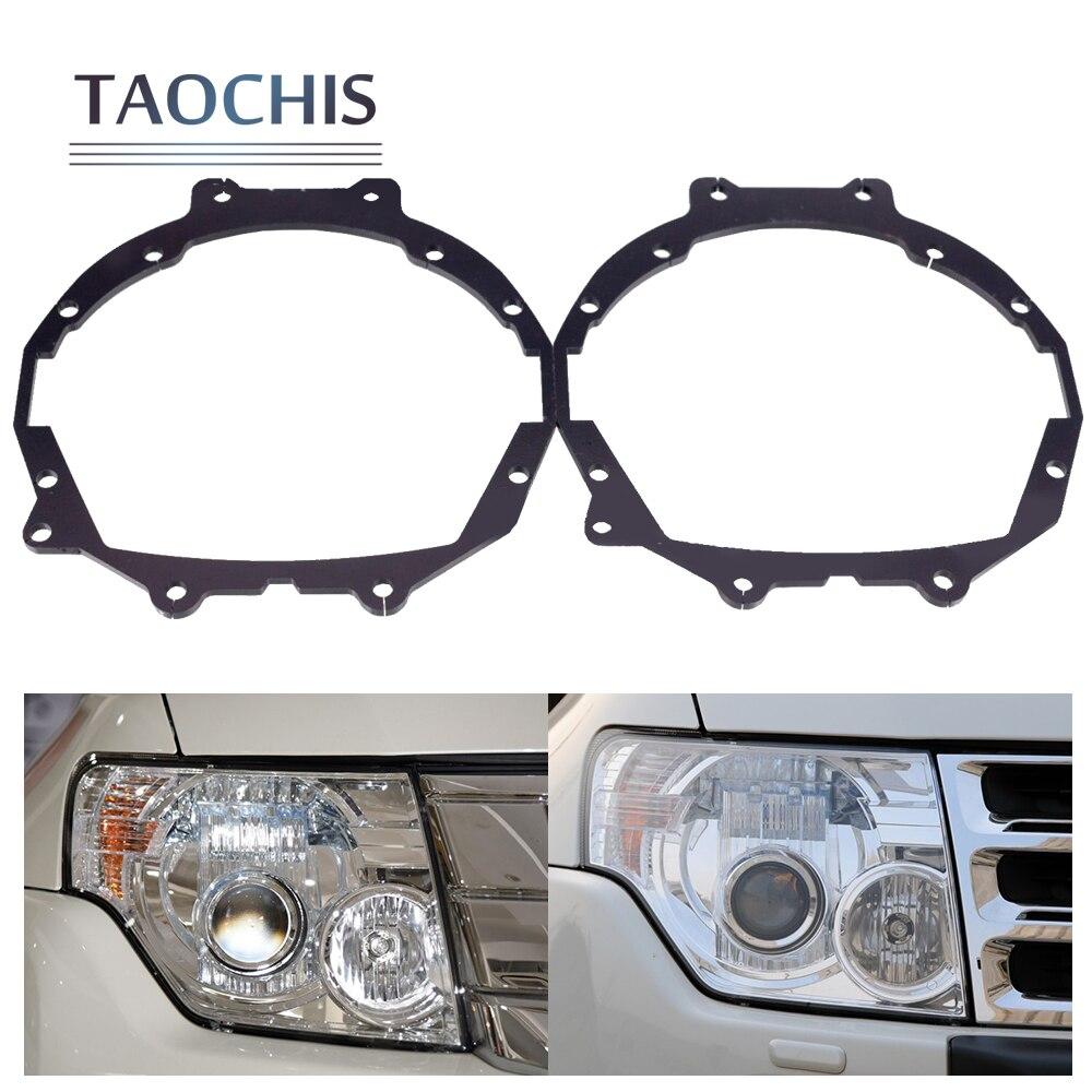 TAOCHIS Car Styling frame adapter module set DIY Bracket Holder for Mitsubishi Pajero Wagon Hella 3r 5 Q5 Projector lens