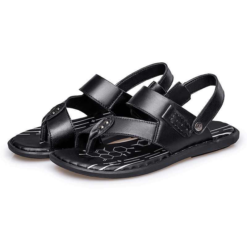 Valstone/мужские сандалии из натуральной кожи с ремешком на щиколотке, мужские тапочки, лето 2019, качественные сандалии, черная пляжная обувь, hombre sandalias