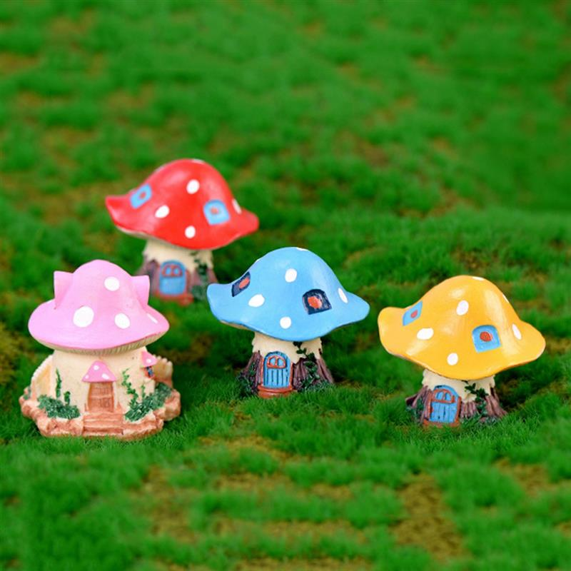 Tiny Cute Mushroom Home Ceramic FIGURINE MINIATURE Home Decor Gift Garden Bonsai