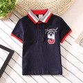 2017 marca de moda verão meninos de roupas infantis curto-de mangas compridas lapela camisa polo clássico confortável algodão de alta qualidade T-shir