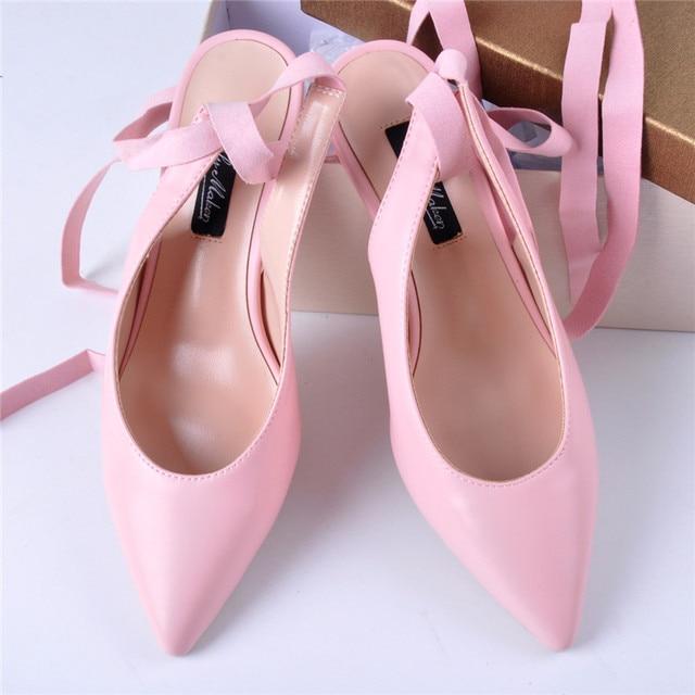 5b42f0a11971 Onlymaker Women s Slingback Lace up Sandals Ankle Strap Pointed Toe D Orsay  Pumps Kitten Heel Wedding Dress Shoes kitten heel