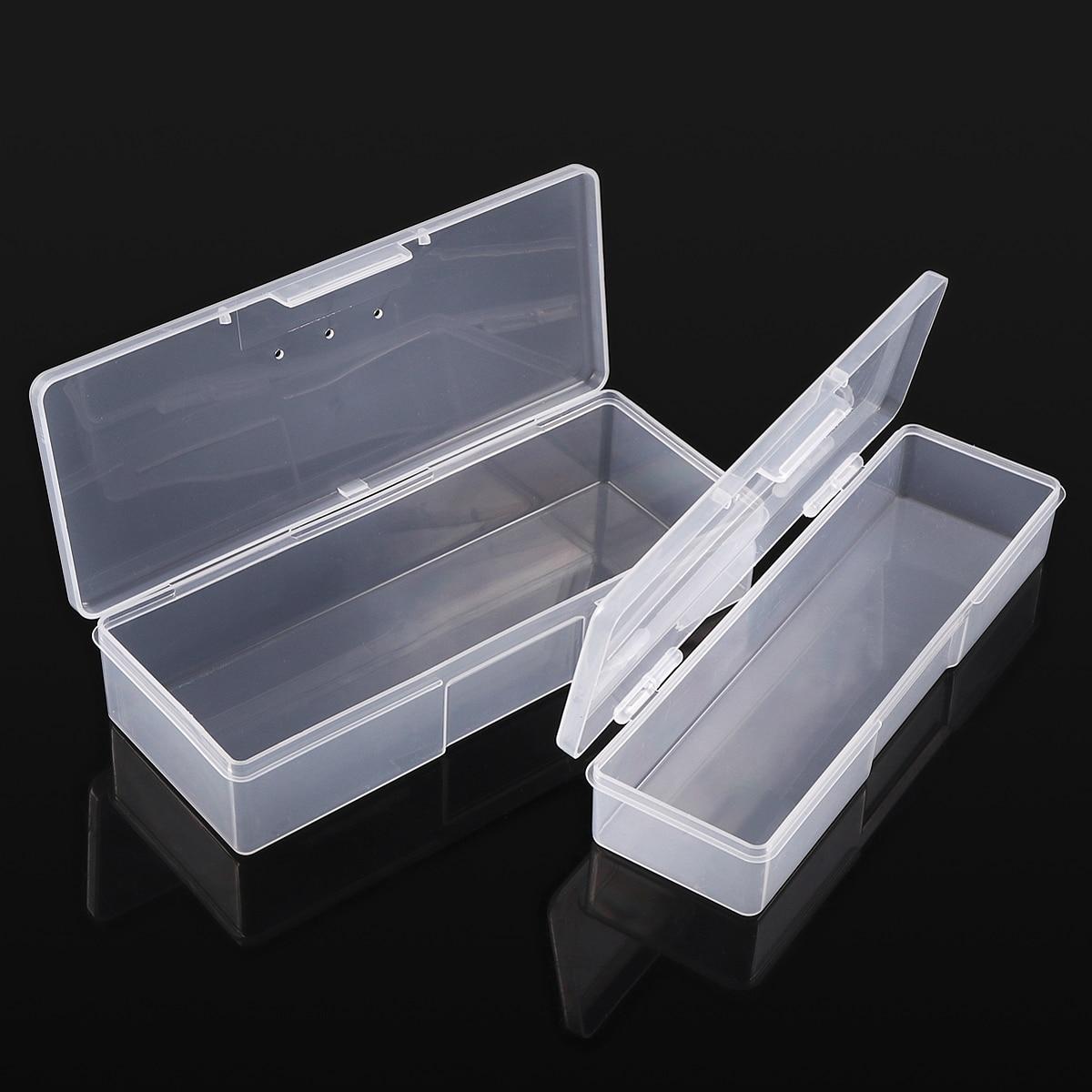 Monja nail art rechteck durchscheinend kunststoff aufbewahrungsbox - Nagel Kunst - Foto 5
