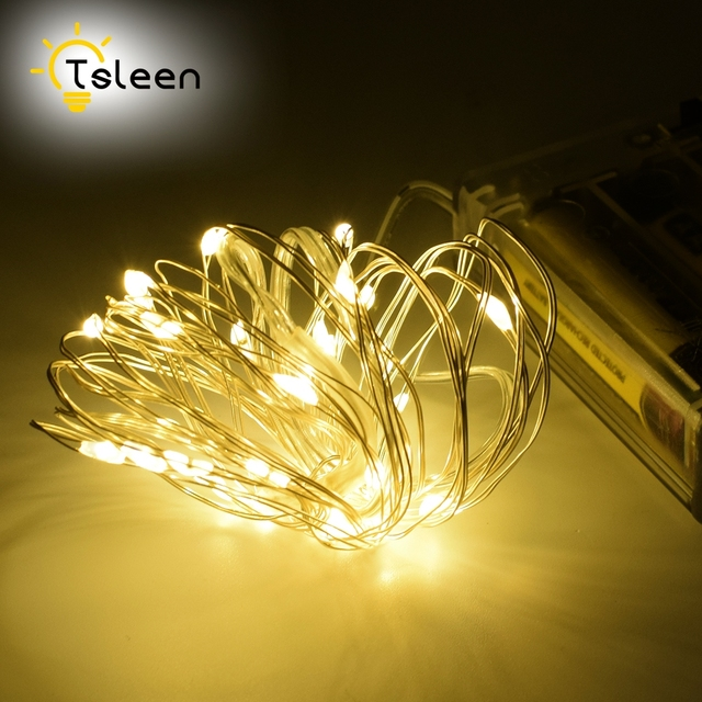 Outdoor Fairy Lights Battery Tsleen 1pc led string lights battery garland outdoor fairy lights tsleen 1pc led string lights battery garland outdoor fairy lights wedding party christmas flasher decoration with workwithnaturefo