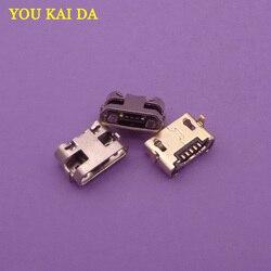 50 pçs para huawei y5 ii CUN-L01 mini micro usb porta de carregamento carregador conector tomada tomada de alimentação doca substituição
