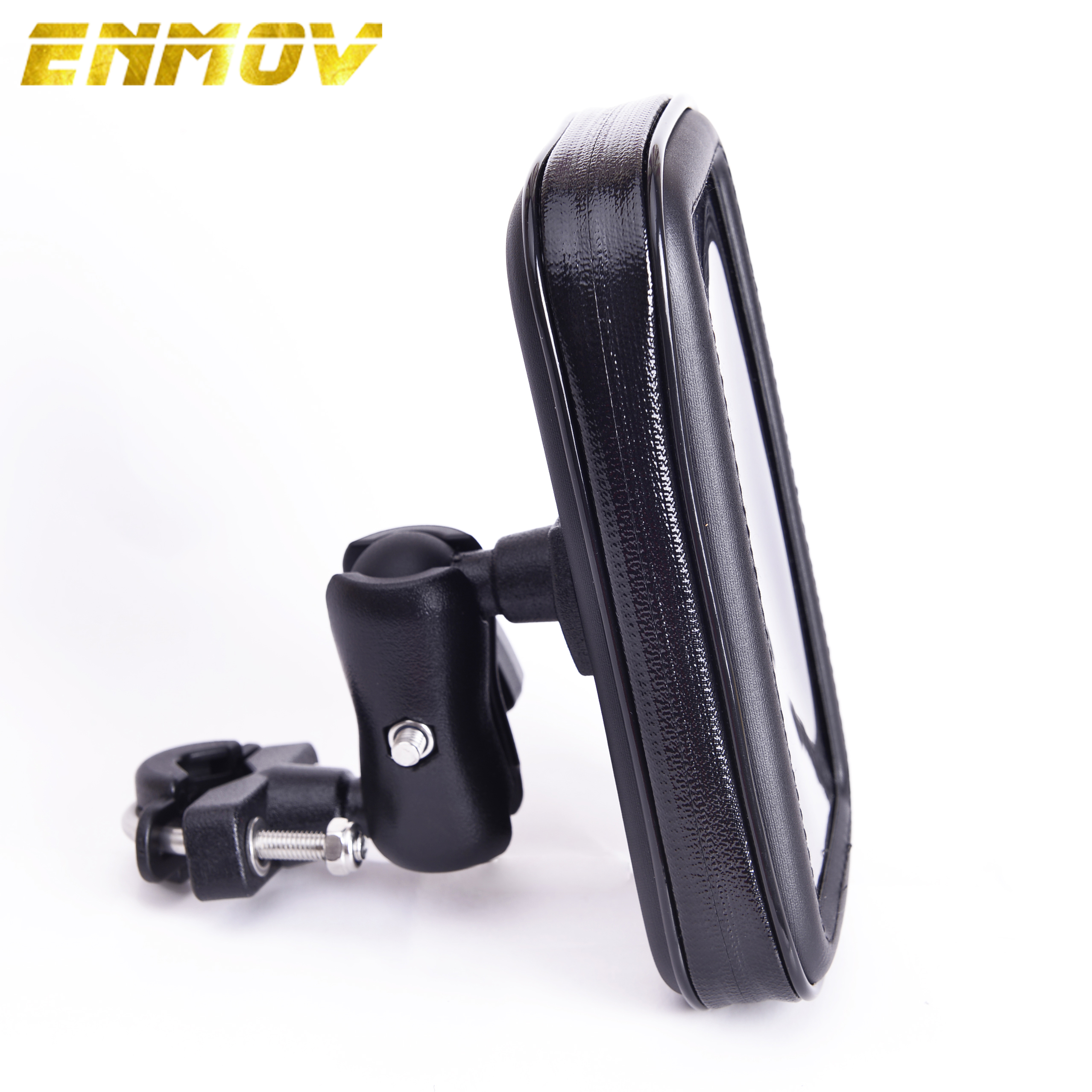 ENMOV <font><b>Bike</b></font> Mobile <font><b>Holder</b></font> Waterproof 360 Degree Rotation Motorcycle <font><b>Phone</b></font> <font><b>Holder</b></font> Handlebar Mount Cell <font><b>Phone</b></font> Stand image