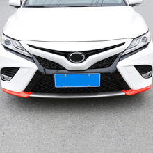 JY ABS Red Carbon Fiber Style Front Bumper Corner Trim Cover Car Styling Accessories  for Toyota Camry 2018 lapetus accessories for toyota camry 2018 2019 matte carbon fiber abs front head light switches button molding cover kit trim