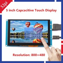 52Pi Free Driver 5 inch 800*480 Display Capacitive Touch Screen