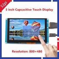 52pi driver livre 5 polegada 800*480 monitor de tela de toque capacitivo para raspberry pi 4 toda a plataforma/pc enviado via yw ou e-ems