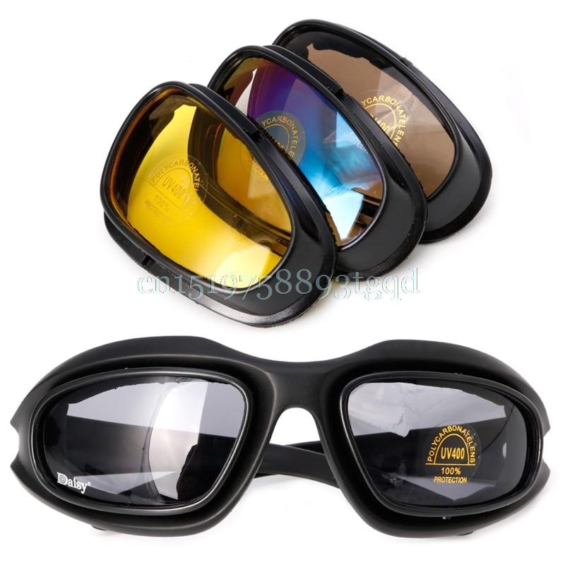 Szélálló polarizált motorkerékpár lencse napszemüvegek lovaglás kerékpározás motoros sportcsomagolás