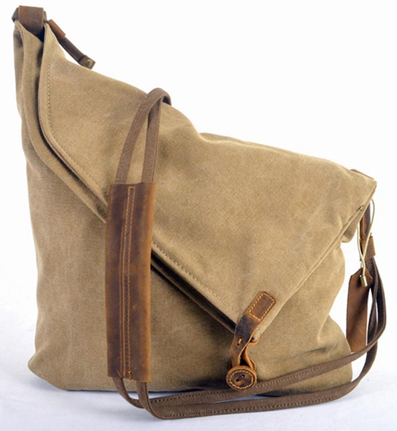 22b3dd7e4ca2 Online Shop Korean Retro New 2014 Vintage Men s military canvas +leather  Shoulder Bag Men s Messenger Bag Sling Bag Cross-body free shipping