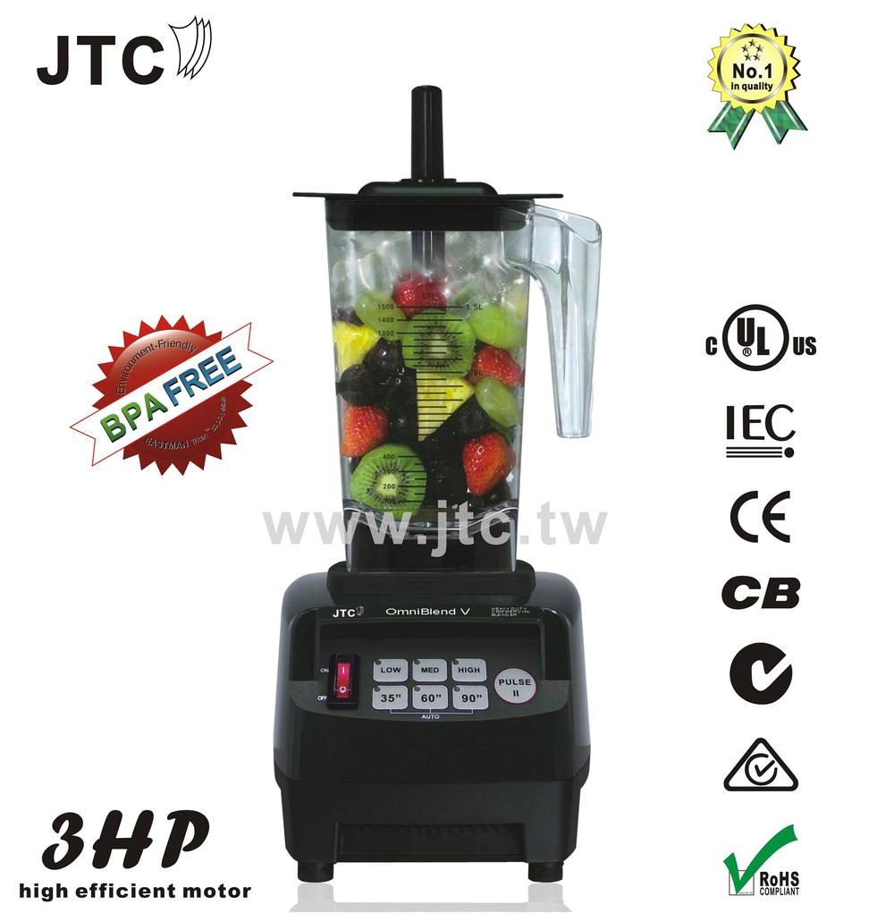 3HP Food blender with  BPA free jar, Model:TM-800AT, Black, free shipping, 100% guaranteed, NO. 1 quality in the world