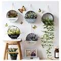 Idylife decoración colgante de pared flor planta de almacenamiento decoración de hierro Pastoral flotante estante tienda decorativa tienda nórdica moderna