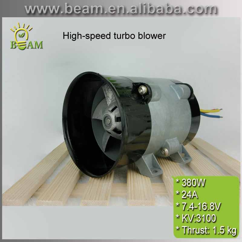 FRETE GRÁTIS 380 W 24A Metais bueiro fã fã brushless DC motor De Alta velocidade da turbina de rotor Interno para Pneumáticos hovercraft