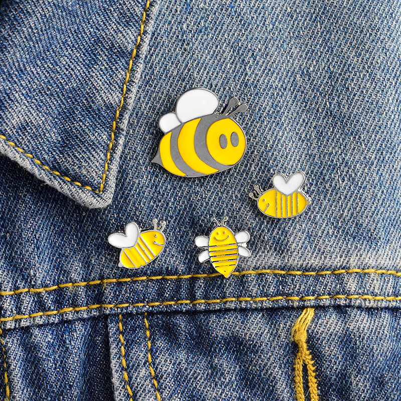 Glorious 4pcs/set Bee Mother Baby Brooch Yellow Enamel Pins Button Denim Jacket Coat Collar Pin Badge Animal Jewelry Gift For Mom Kids Jewelry & Accessories Brooches