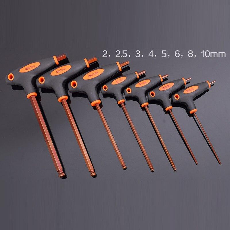 8 pcs Canne Allen outils avec la poignée S2 rotule sauf Le Travail T Allen clé