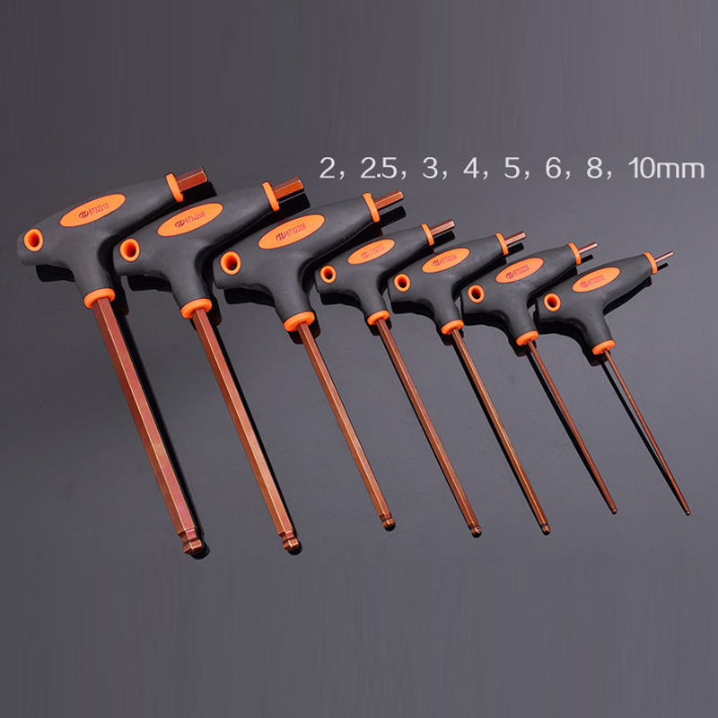8pcs Cane Allen tools with the handle S2 ball head save Labour T Allen wrench