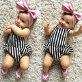 2016 newborn baby girl clothes Baby Boy Summer Short Sleeve Backless Bodysuits roupa bebe