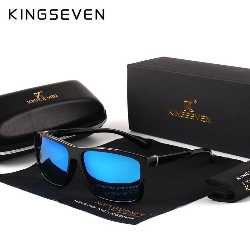 KINGSEVEN Marca Gafas de Sol de Estilo Vintage Hombres UV400 Clásico - Accesorios para la ropa - foto 5