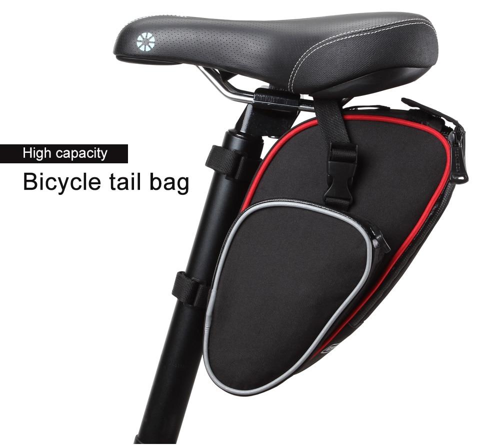 Cycling Bicycle RockBros Saddle Bag Pannier MTB Road Bike Seat Bag Tail Storage