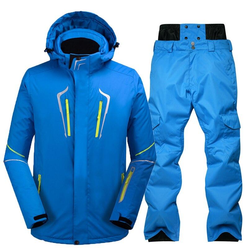 New Men's Ski Jacket Outdoor Ski Suit Windproof Warm Warm Ski Jacket Jacket Waterproof Snow Jacket Sportswear Set Winter Clothes цена