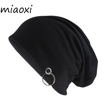 miaoxi New Style Fashion Adult Unisex Solid Hat With Hoop Casual Women Warm Beanies Skullies Novelty Men Gorros Caps - discount item  35% OFF Hats & Caps
