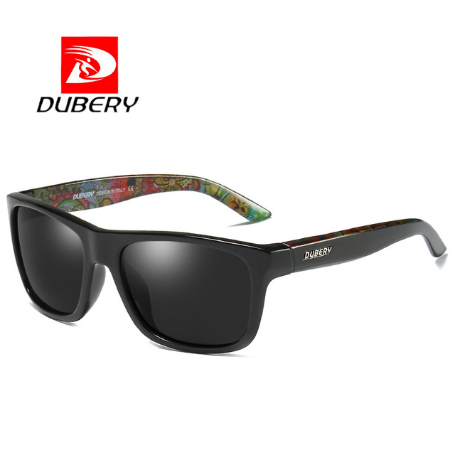DUBERY Men Women Polarized Sunglasses Camo Sports Eyewear Light Weight Safe Protection Goggles UV400 Mirror Oculos De Sol