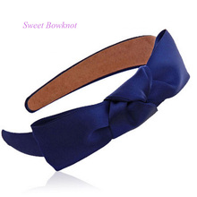 Hot Selling Fashion 8 colors Ribbon Bowknot Lady Hair Band Headband for Headwear Hair Accessories