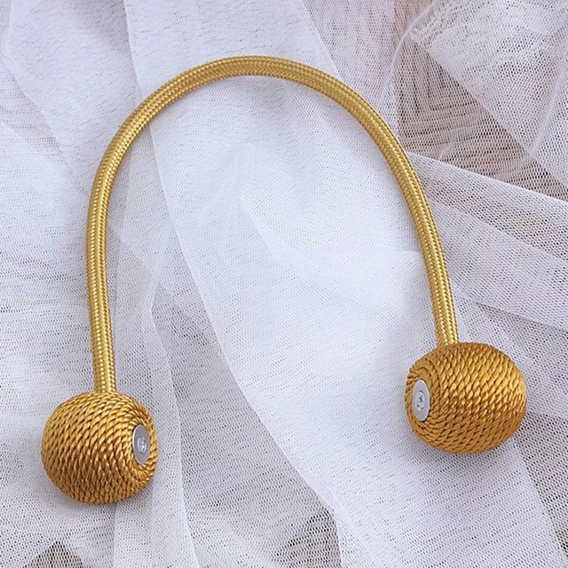 Tieback Magnetic Curtain Tie Backs Buckle Holder Round Curtains Holdback Window Accessories Home Tassels Decoration