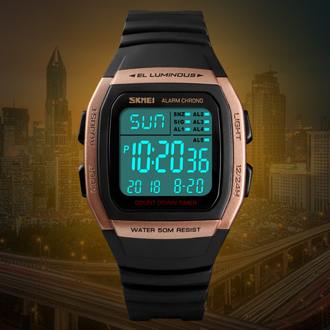 SKMEI Fashion Men Watches Sports Digital Watch Waterproof Alarm Man Wrist Electronic Clock Men Relogio Masculino Multan