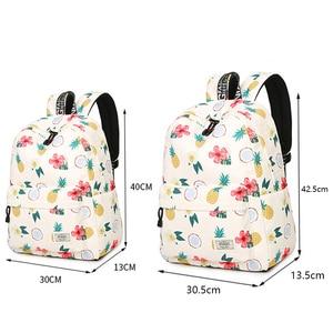 Image 5 - Simple Qualities Comfortable Girl Waterproof Polyester Backpacks Cute Pineapple Printing Female Students Backpack Bag