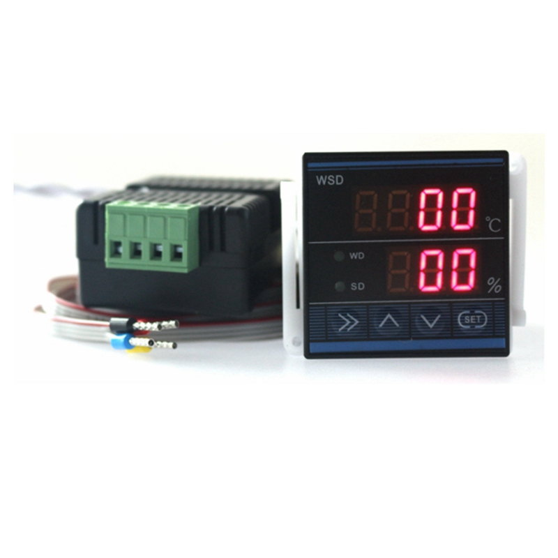 AC 220V New (48*48mm) Digital Thermostat Regulator Temperature Humidity Controller TDK0348LA High Accuracy digital tdk0302la humidity temperature controller 220v led display home egg incubator farming thermometer cn902 thermostat