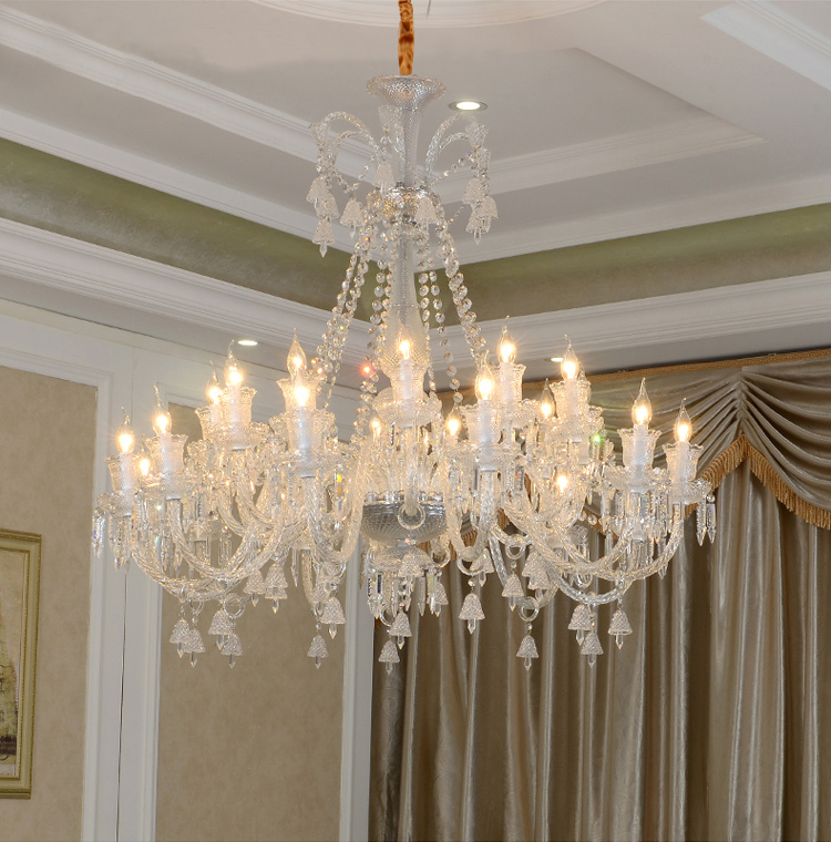 Morocco 24-arm large pendant Crystal light Led glass Chandelier for Living room Hotel Dining Room Led lustres de cristal sconce nordic living room crystal chandelier light luxury chandeliers light lustres de cristal for living dining room hotel decor