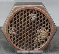 Marked Old Chinese Bronze Butterfly Fish Animal Incense Burner Censer Box Boxes