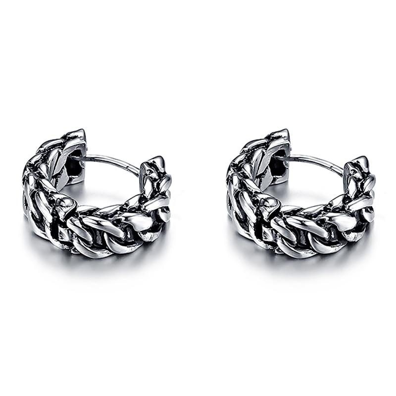 VE169 Retro Edelstahl Weiblichen Kette Ohrringe Allergie Ein Paar Vintage Stud Ohrring Geschenk Frauen Mode Schmuck