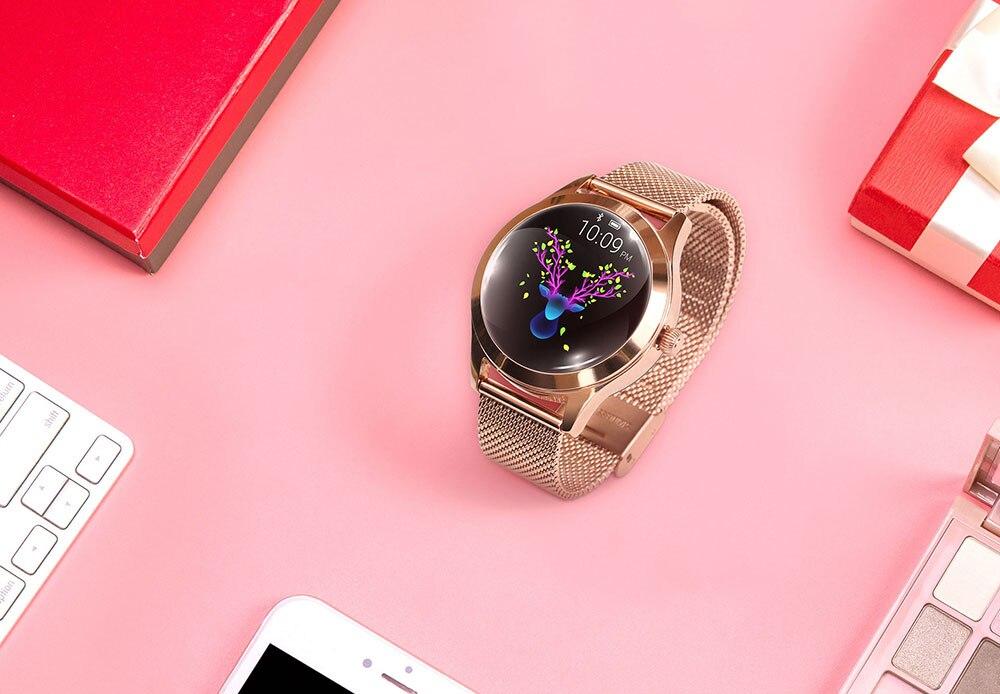 Askmeer kw10 relógio inteligente mulher ip68 à