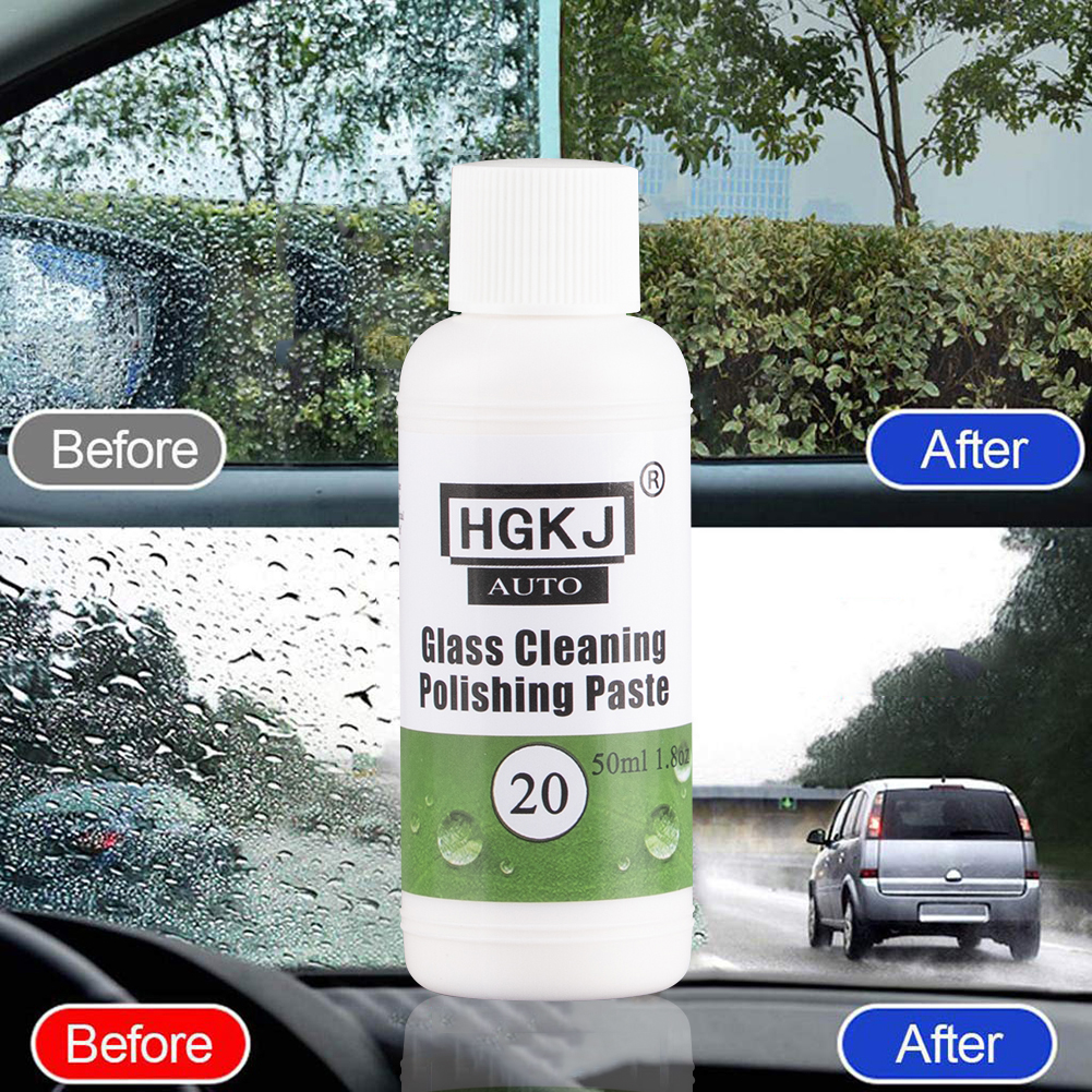 HGKJ-20-50ml Car Glass Cleaning Polishing Paste Glass Oil Film Scratch Removing Cleaning Washing Auto Car Accessories TSLM1