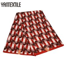 YANTEXTILE New Pattern Kente Ghana Fabric 6 Yards African Wax Ankara Dresses Women Cloth Patchwork