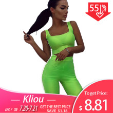Kliou 2019 new women two pieces set Reflective striped patchwork sexy skinny strapless crop top elastic shorts tracksuit outfits(China)