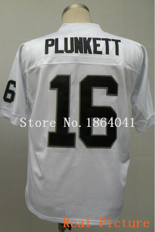 #16 Jim Plunkett Jersey Black White Color ,Throwback Football Jersey,Sport Jersey Accept Mix Order