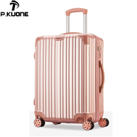 New suitcase ABS\PC stripe luggage set series 20 26 inch trolley suitcase travel bag luggage bag Rolling luggage with wheel