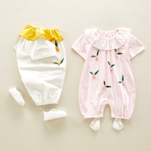 цена на Baby Clothes Cute One Month Hundred Days Baby Summer Clothes Baby Girl Thin Section Conjoined Princess Summer Dress