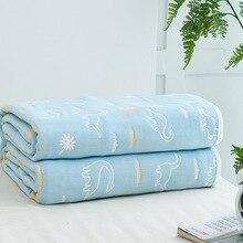 6 слоев детское одеяло для новорожденных хлопок муслин пеленать ребенка Warp Пеленальное Одеяло Постельные принадлежности для малышей получения Одеяло s 90*100 см детская ванночка