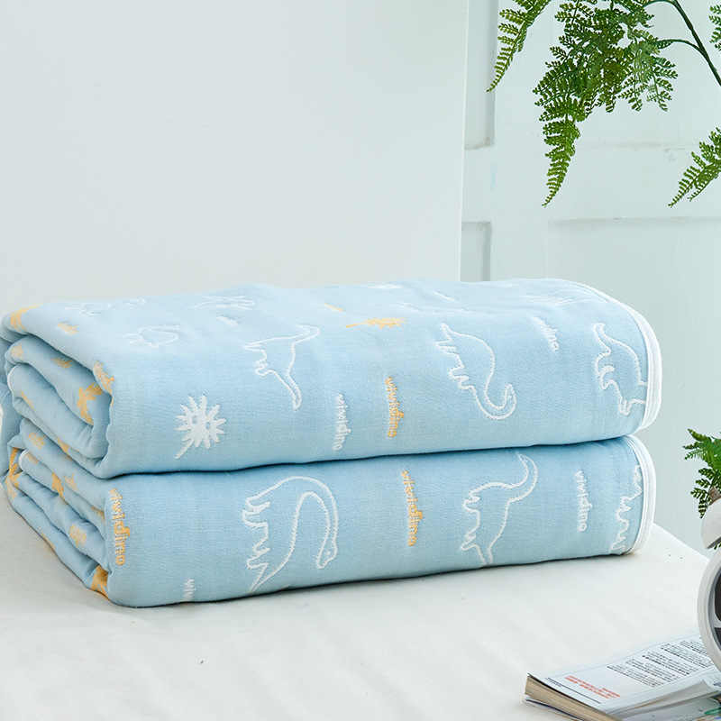 6 Layers Baby Blanket for Newborn Muslin Cotton Swaddle Baby Warp Swaddle Infant Bedding Receiving Blankets 90*100cm Baby Bath