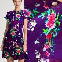 125cm high end chinese silk fabric 35mm heavy silk linen fabric digital printing retro natural linen fabric linen cloth